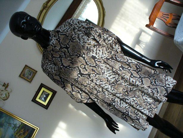 %%_L'olive verte_wężowa_sukienka w stylu boho_36/38