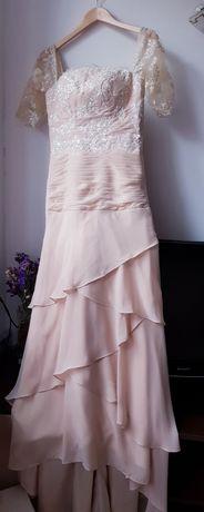 Suknia ślubna ślub cywilny kościelny 38 M szyta ręcznie