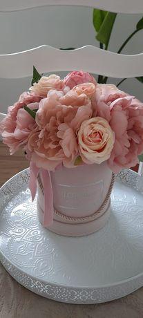 Flower Box Pudrowy WELUROWY