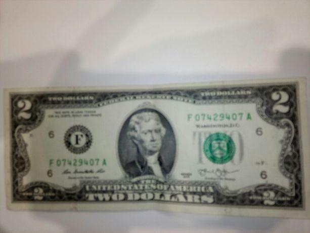 2 доллара, два долари