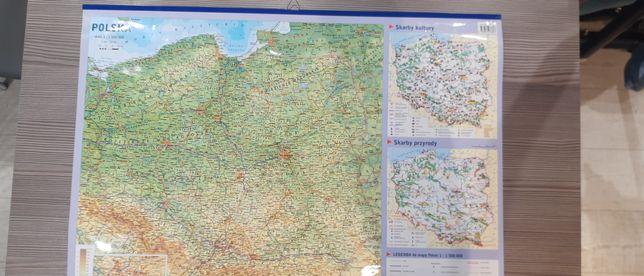Mapa  geograficzna Polski