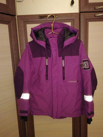 Куртка didriksons рост 120 деми зима в отличном состоянии унисекс