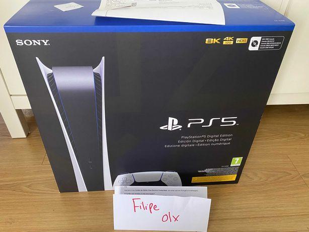 Playstation 5 Digital ps5 Nova Selada Factura e Garantia 2anos