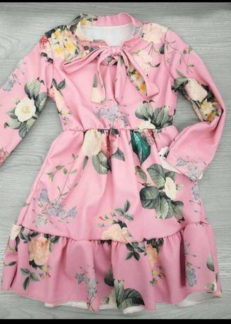 Sukienka w kwiaty rozm. 2,4,6,10 lat