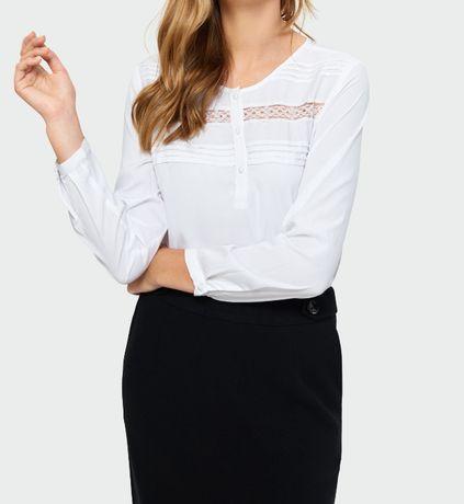 Bluzka piękna Nowa biała 36 /38 bluzki długi rękaw Greenpoint