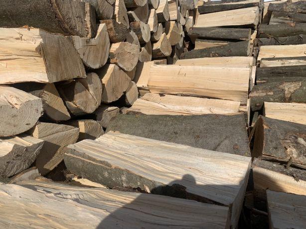Drewno Kominkowe-Opałowe,od 20cm-60cm pocięte połupane Buk Dąb  Tanio