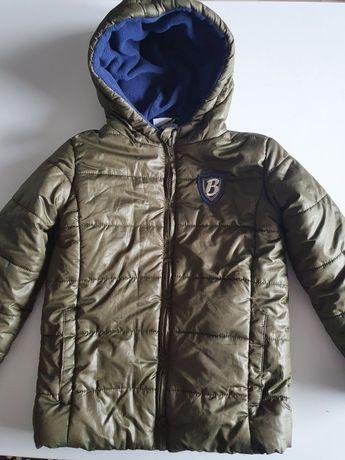 Kurtka zimowa Papagino r. 110 + czapka i szalik