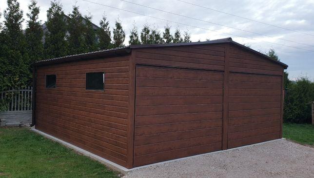 Garaż blaszany Drewnopodobna Blacha Blaszak Poziom PROFIL ZAMKNIĘTY