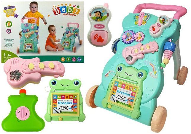 Pchacz dla niemowląt mietowo-różowy Nowy model Odbiór Wysyłka