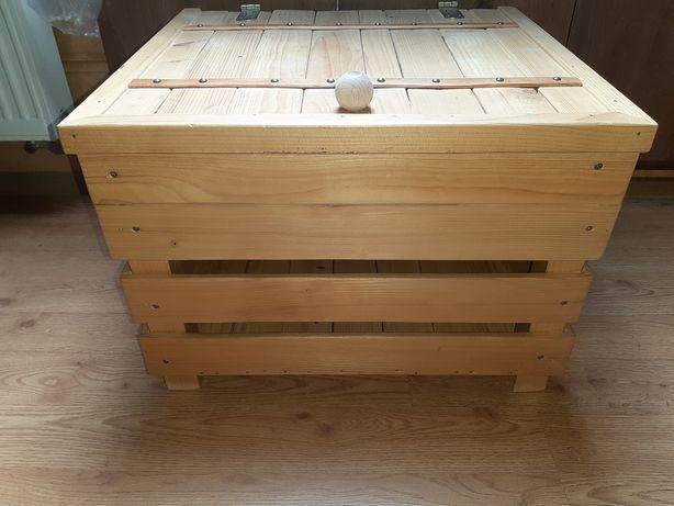 Duża Skrzynia Drewniana Sosnowa Na Zabawki Lub Inne Rzeczy Zamykana