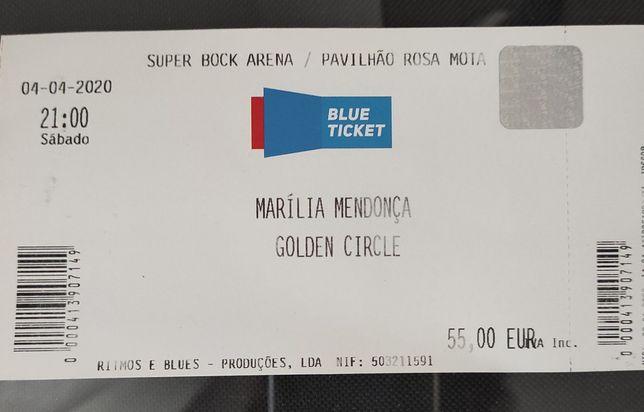 Bilhete para o show Marília Mendonça