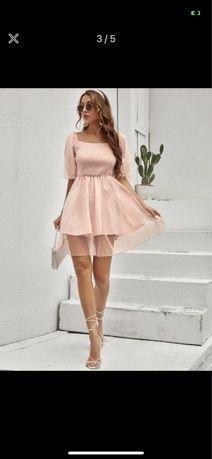 Vestido Rosa Bebé NOVO (S)