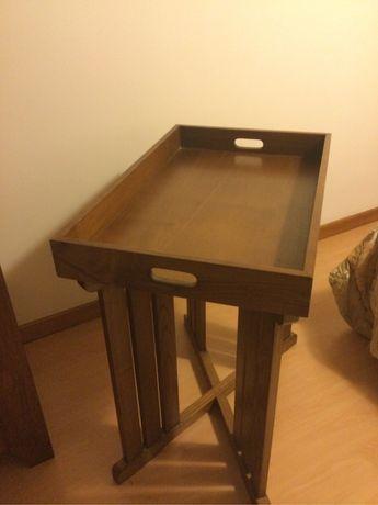 Mesa/ tabuleiro de madeira maciça - loja do gato preto