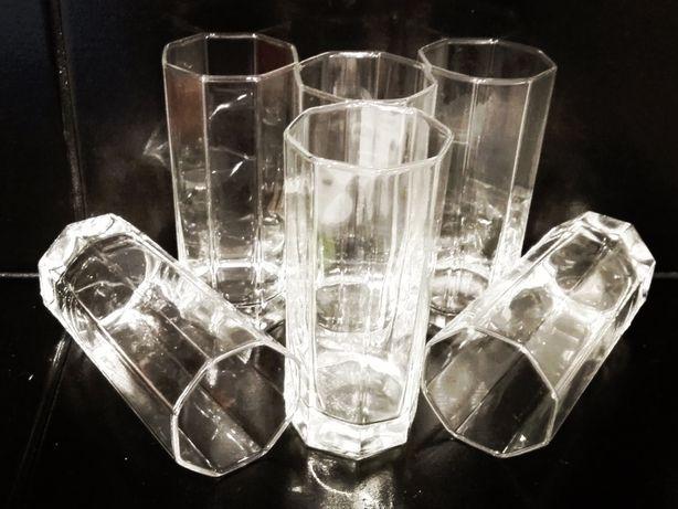 Kolekcjonerskie szklanki koktajlowe 6 szt. long drink Bohemia art deco