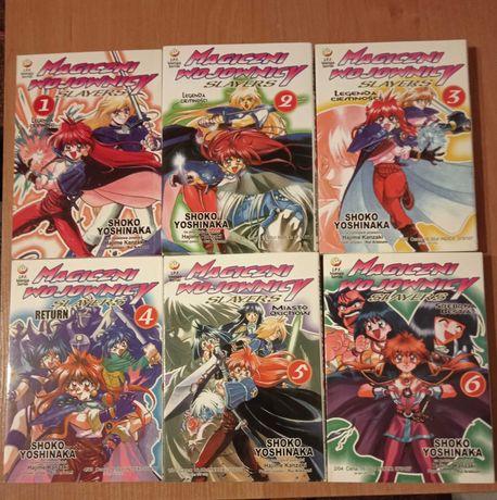 Manga Slayers Magiczni Wojownicy Tomy 1-5 (tom szósty sprzedany)