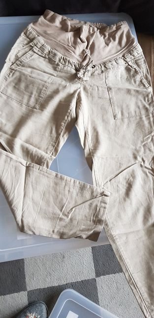 Spodnie ciążowe lniane H&M 36