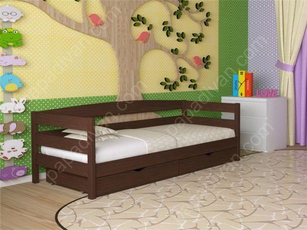 Детская кровать деревянная Нота 80х190 Массив сосны в наличии Одесса