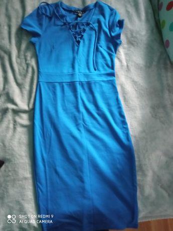 Sukienka granatowa kobaltowa M/L