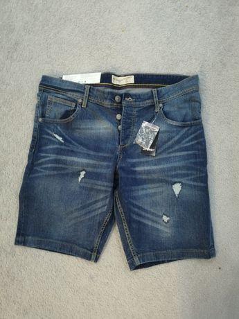 Spodenki męskie rybaczki jeansowe r.52 L/xl