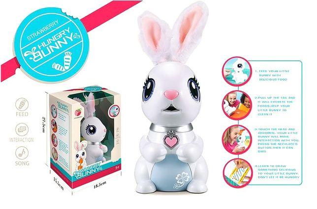 """Интерактивная игрушка """"Голодный кролик"""" Strawberry (C6). Подарок на НГ"""