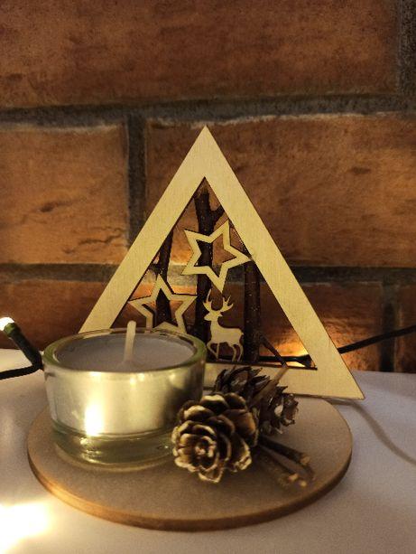 Świąteczny świecznik / stroik na podgrzewacz idelany na prezent świąte