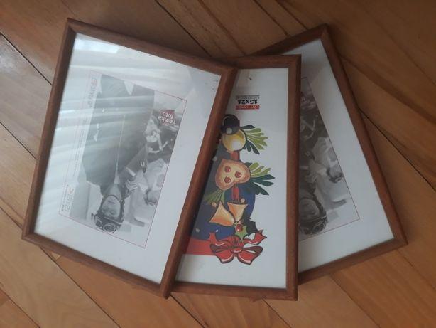 rama ramka ramki drewniane 15 21 nowe 3 sztuki ślub prezent