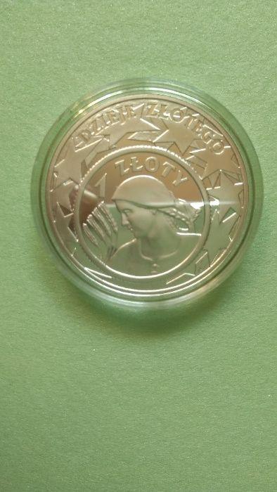 Moneta kolekcjonerska 10 zł srebro dzieje złotego 1 złoty Gdańsk - image 1