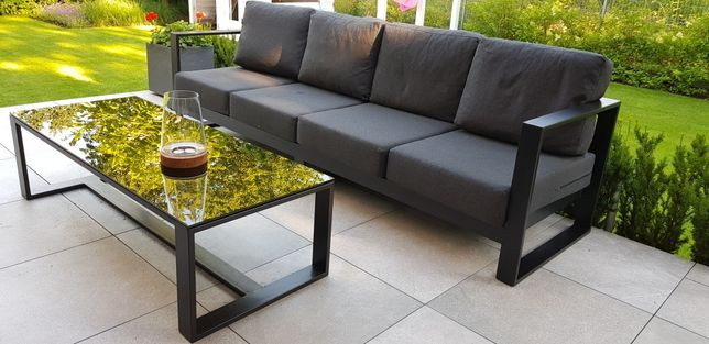 Meble ogrodowe kanapa stolik poduszki do ogrodu