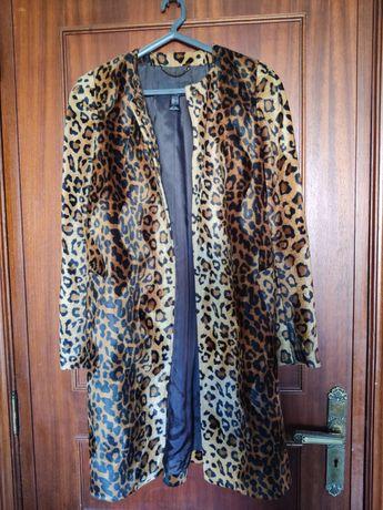 Casaco padrão leopardo - Mango