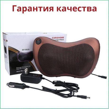 Массажная подушка для спины и шеи Massage pillow GHM 8018 роликовая