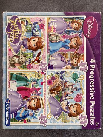 4 puzzles progressivos Disney - princesa Sofia