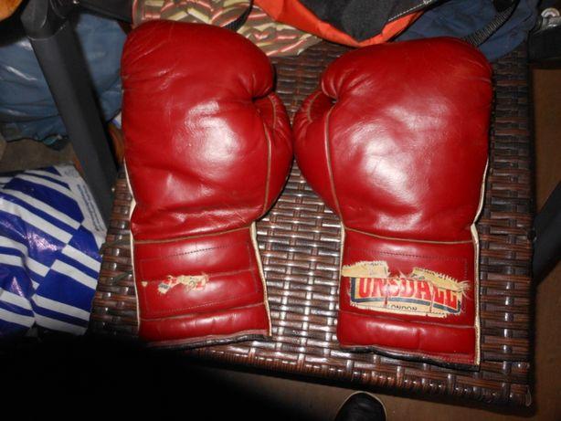 Rękawice bokserskie skórzane