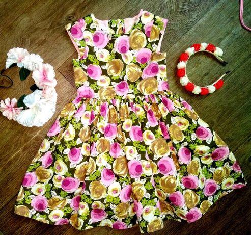 Нарядное платье Next на 5-6лет