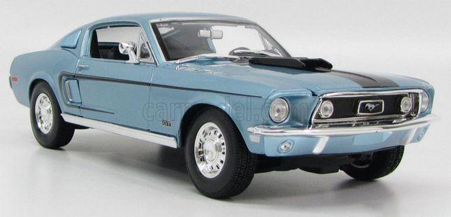 Model 1:18 Maisto Ford Mustang GT Cobra Jet 1968 blue