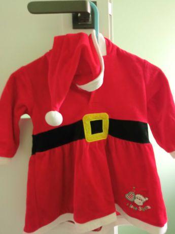 Sukieneczka świąteczna 74 - Mikołajka:)