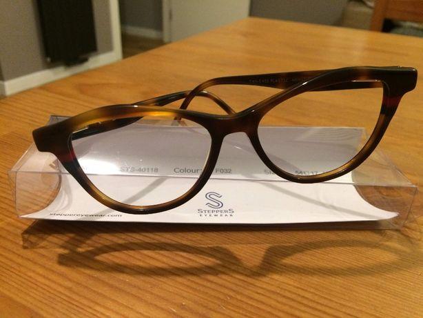 Oprawki okularowe, brąz, stan idealny
