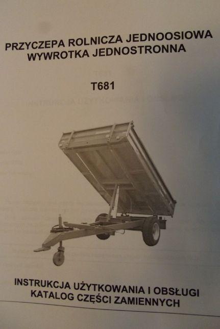 Katalog Część Zamiennych, Instrukcje Obsługi Przyczepy PRONAR