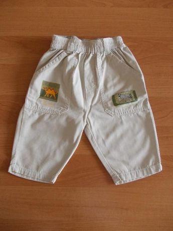 Spodnie spodenki sportowe długie 68 4/6 m-ce