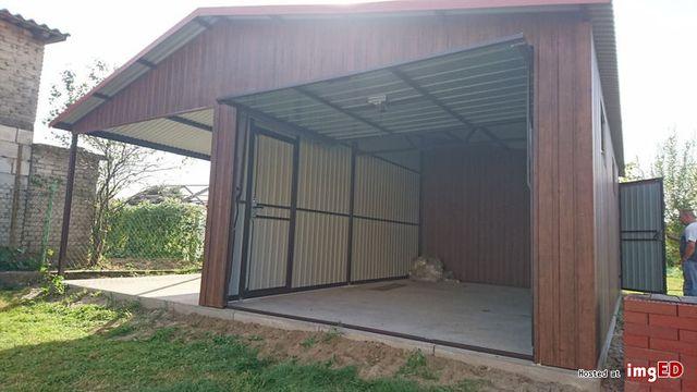 Garaż blaszany 6x6, 7x7, 4x6, różne wymiary,drewnopodobny, wzmacniany,