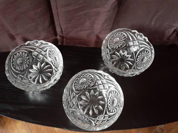 Комплект хрустальных ваз/салатниц