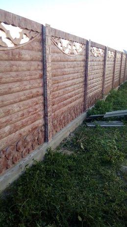 Забор бетонний
