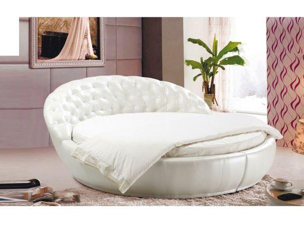 Круглая белая кровать ARINE - в наличии!!