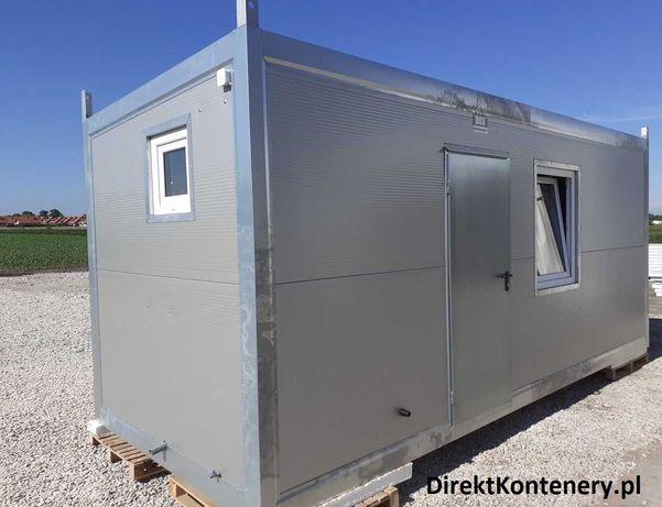 kontener budowlany socjalny mieszkalny 4os z kuchnią i prysznicem