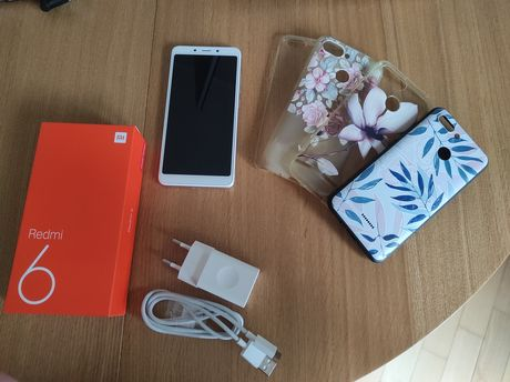 Telefon smartfon Xiaomi Redmi 6 gold 3/32 GB dual SIM idealny