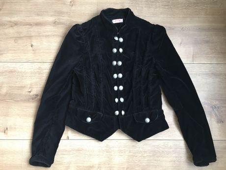 Czarny welurowy żakiet marynarka Orsay rozmiar 36