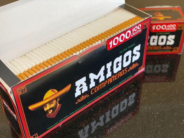 AMIGOS 1000 Гильзы для сигарет, гильзы для табака, сигаретные гильзы