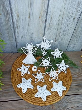 Новорічний декор для вікон та ялинки/іграшки на ялинку/прикраси