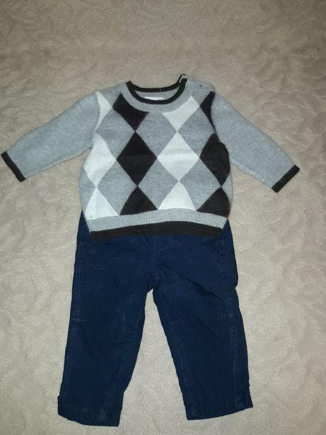 Комплект, костюм, набор, свитер и штаны фирмы H&M. 68, 4-6 месяцев.