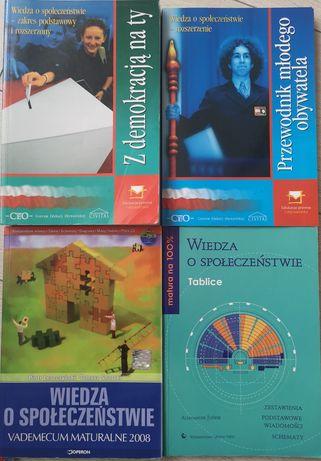 Wiedza o społeczeństwie, podręczniki, tablice, vademecum