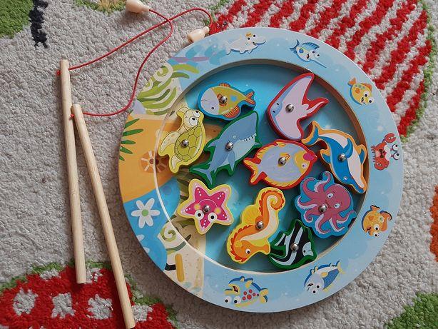 Игра деревяннная рыбалка на магнитах